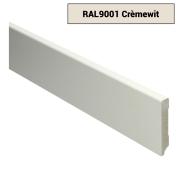 MDF Moderne plint voorgelakt RAL 9001