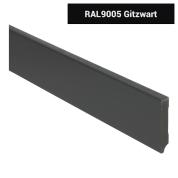 MDF Moderne plint voorgelakt RAL 9005