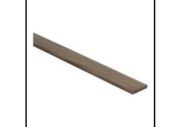 Afwerklijst 6x28 mm walnoot