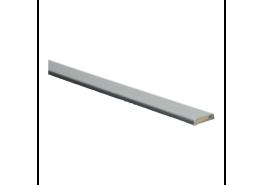 Afw.lijst 5x24 geborsteld aluminium fineer