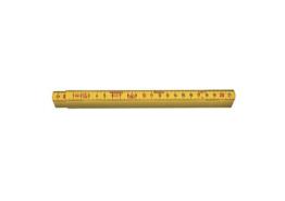 Duimstok G59 glasfiber geel 1 meter 4 delen