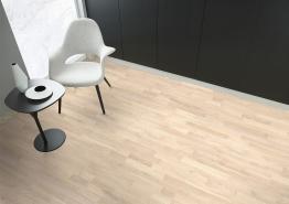 Eiken Lamelparket 20,7 cm 3-strooks select white mat lak