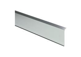Elegante aluminiumplint geborsteld hoogglans 60x10mm