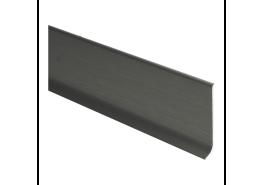 Elegante Alu plint RVS geborsteld mat 60x10 mm