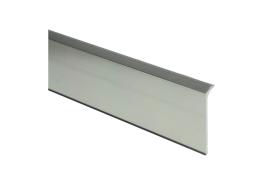 Elegante aluminiumplint RVS hoogglans 60x10mm