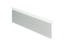 Elegante Alu plint wit mat RAL 9010 60x10 mm