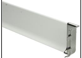 Elegante binnenhoek RVS hoogglans 60 mm