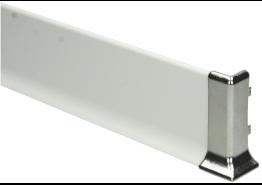 Elegante buitenhoek  RVS hoogglans 60mm