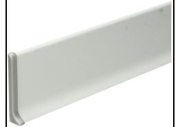 Elegante eindstuk links aluminium