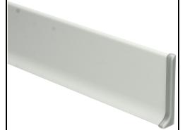 Elegante eindstuk rechts aluminium