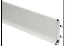 Elegante Koppelstuk geborsteld hoogglans 60 mm
