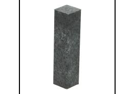 Hoek of eindstuk folie 4 stuks metallic slate