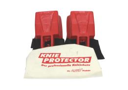 Kniebeschermers met klitteband (rood)