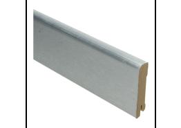 Luxe plint 70x15 geborsteld aluminium fineer