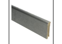 Luxe plint 70x15 geborsteld RVS fineer
