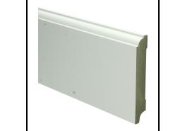 MDF Eigentijdse plint 115 MM x 18 MM wit voorgelakt. RAL 9010