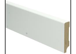 MDF Moderne plint wit voorgelakt RAL 9010