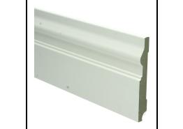 MDF Renaissance plint 120 mm x 15 mm wit voorgelakt RAL 9010
