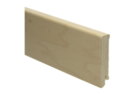 Moderne plint 80x18 edelfineer ahorn gelakt