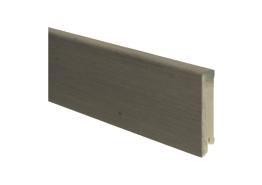 Moderne plint 80x18 eiken dubbel ger. grijs olie