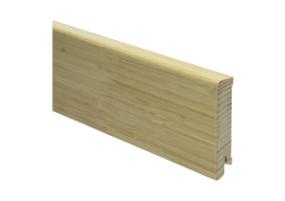 Moderne plint 80x18 fin. bamboe naturel gelakt