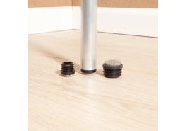 Viltglijder vast vilt ronde holle poten 11-12 mm