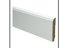 Whiteline plint kwartrondkraal 90x15 wit gefolied