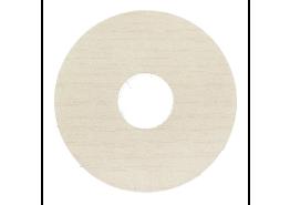 Zelfkl. rozet (17 mm) ahorn wit (10 st.)