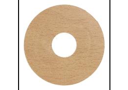 Zelfkl. rozet (17 mm) beuken licht (10 st.)
