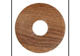 Zelfkl. rozet (17 mm) eiken antiek (10 st.)