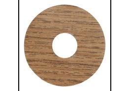 Zelfkl. rozet (17 mm) eiken donker (10 st.)