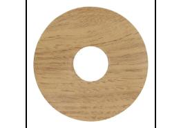 Zelfkl. rozet (17 mm) eiken licht (10 st.)