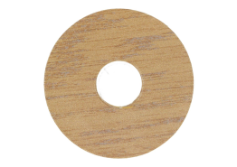 Zelfkl. rozet (17 mm) eiken select (10 st.)
