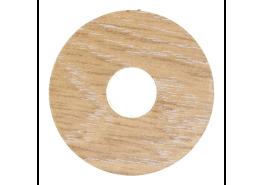 Zelfkl. rozet (17 mm) eiken wit (10 st.)