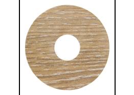 Zelfkl. rozet (17 mm) eiken wit ceruse (10 st.)