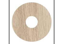 Zelfkl. rozet (17 mm) eiken wit geolied (10 st.)