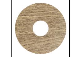 Zelfkl. rozet (17 mm) oud eiken matgeolied (10 st)