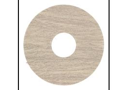 Zelfkl. rozet (17 mm) teak grijs geborsteld (10st)