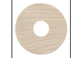 Zelfkl. rozet (17 mm) witte es (10 st.)