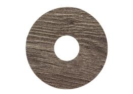 Zelfklevende rozet (17 mm) eiken drijfhout bruin (10st)