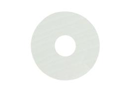 Zelfklevende rozet (17 mm) eiken wit gelakt