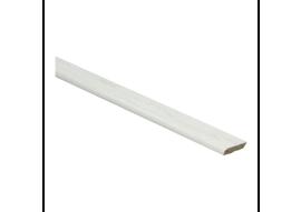 Afwerklijst met plakstrip elzen wit