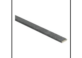Afwerklijst met plakstrip metallic slate