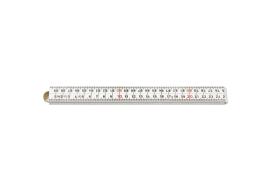 Duimstok glasfiber wit 1 meter