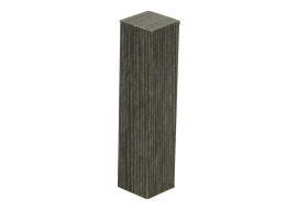 Hoek/eindstuk folie 4st. titanium eik