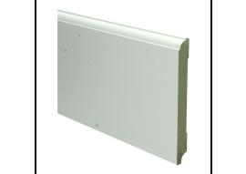 MDF Eigentijdse plint 150 MM x15 MM  wit voorgelakt. RAL 9010