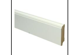 MDF Eigentijdse plint 70 MM x 15 MM wit voorgelakt. RAL 9010