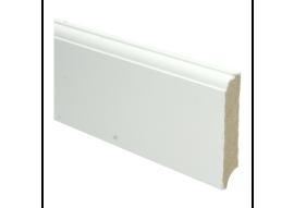 MDF Eigentijdse plint 90 MM x 18 MM wit voorgelakt. RAL 9010