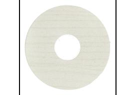 Zelfkl. rozet (17 mm) elzen wit (10 st.)
