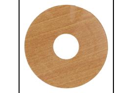 Zelfkl. rozet (17 mm) kersen licht (10 st.)